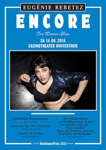 "Affiche du spectacle ""Encore"""