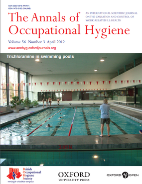 PAge de couverture de la revue scientifique Annals of Occupational Hygiene  - Vue de la piscine de Porrentruy